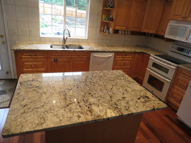 Absolute Cream Brazil Granite Countertops Seattle
