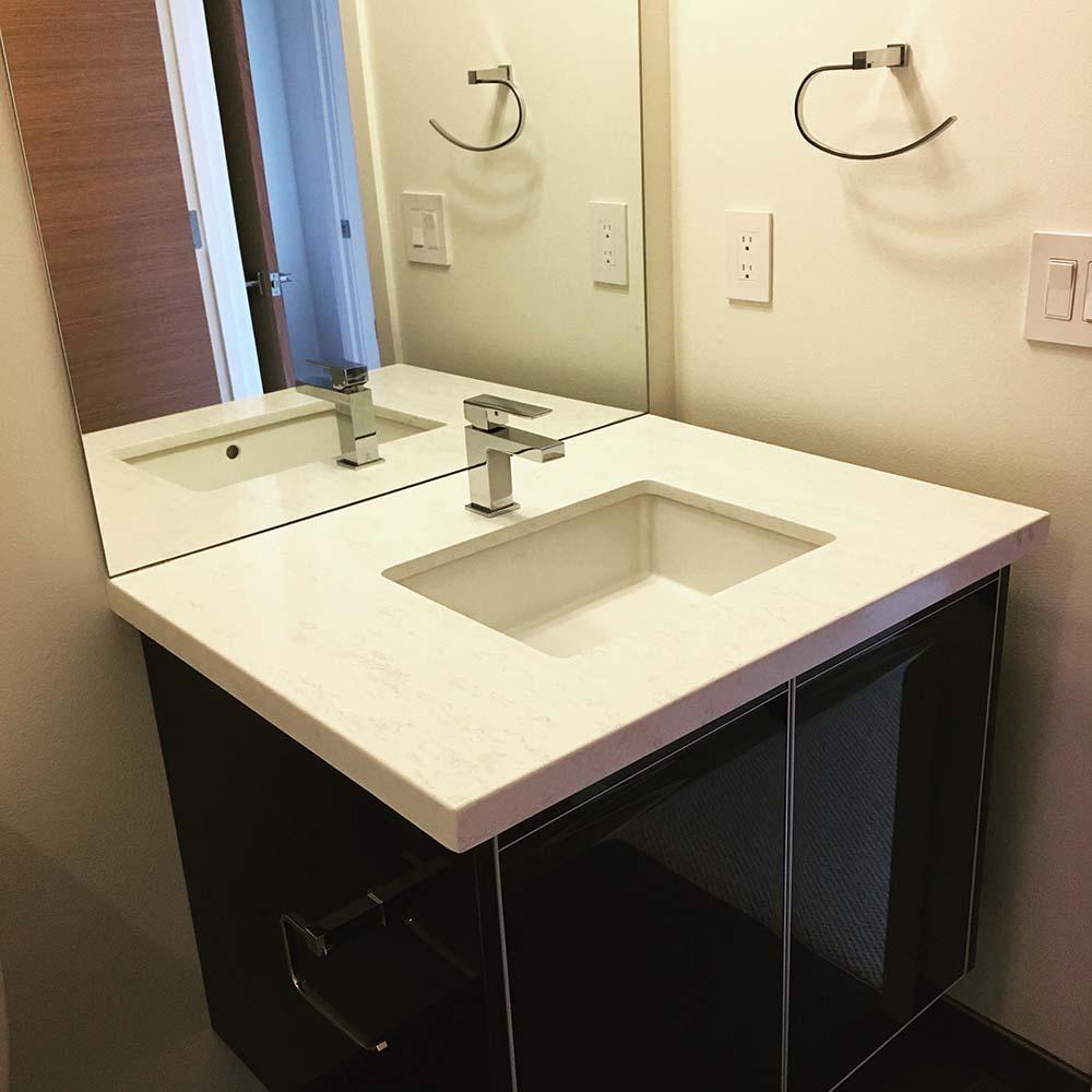 Bathrooms By Granite Marble Specialties Granite Countertops Seattle - Granite vs marble bathroom countertops