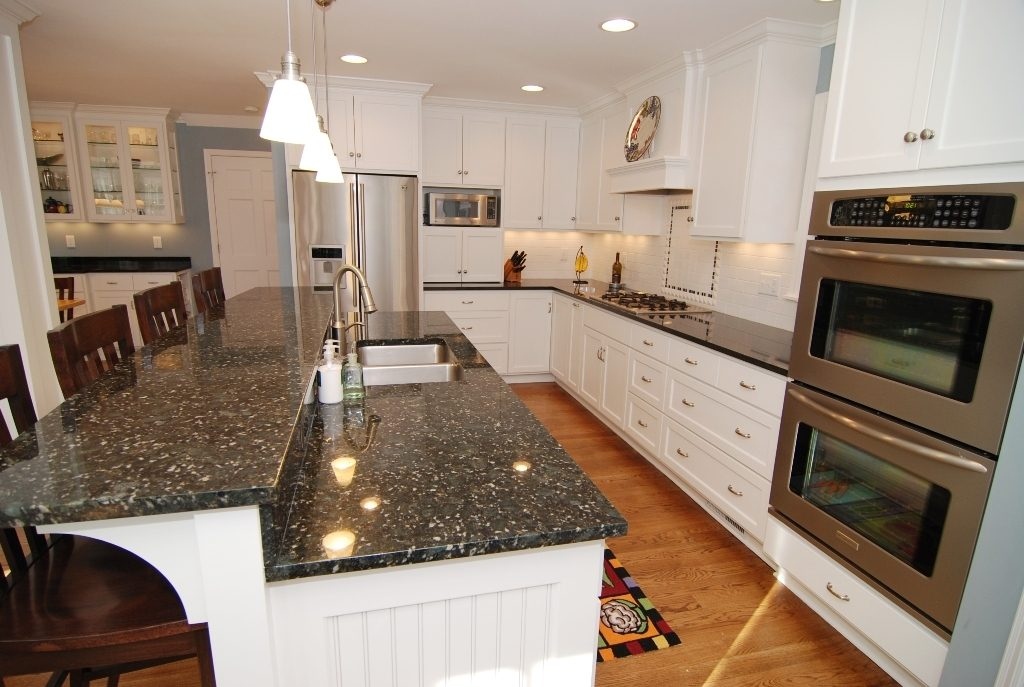 white kitchen cabinets with verde butterfly granite butterfly green granite countertops seattle 29047