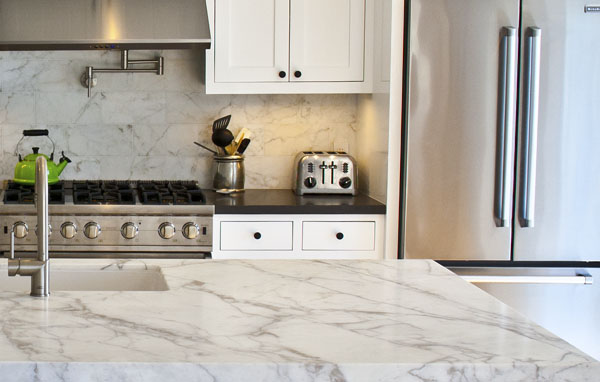 Calacatta Gold Honed Granite Countertops Seattle
