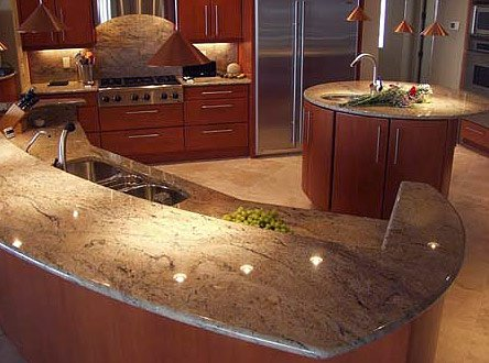 Crema Bordeaux Granite Countertops Seattle