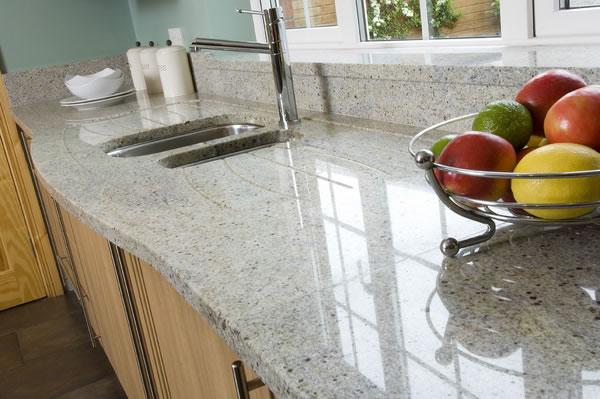 Dallas Bianco White Pic Kitchen Granite Countertops Seattle