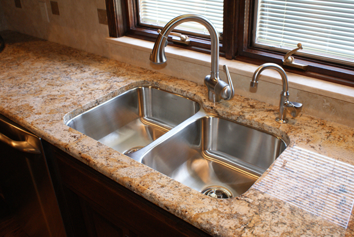 Golden Silver Persa Granite Countertops Seattle