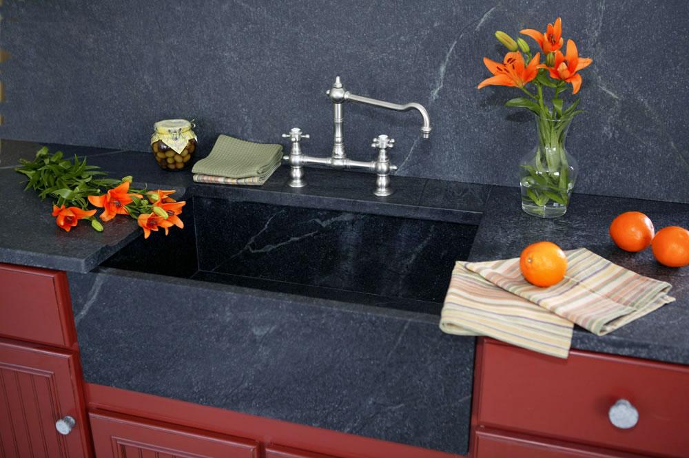 Gray Soapstone Granite Countertops Seattle