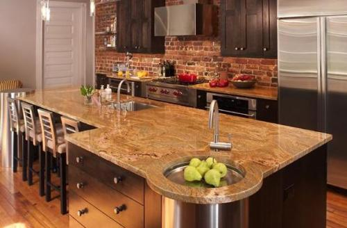 Juparana Colombo Gold Granite Countertops Seattle