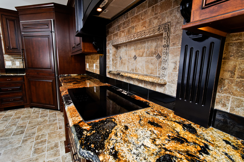 Magma Black Granite Countertops Seattle