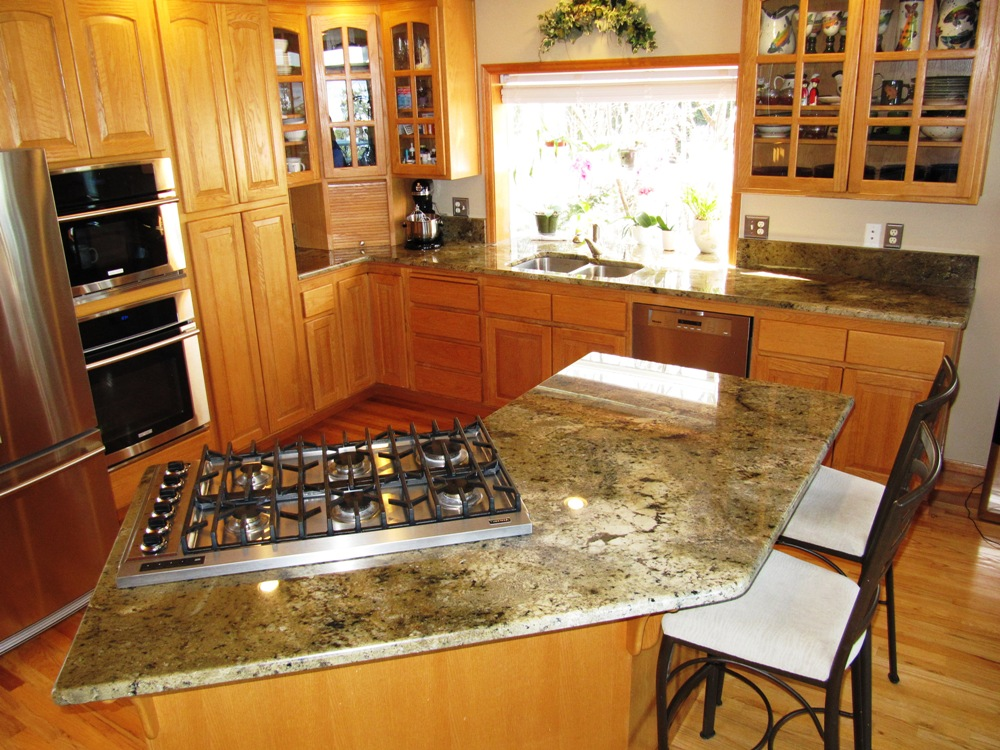 picture of granite countertops in kitchens