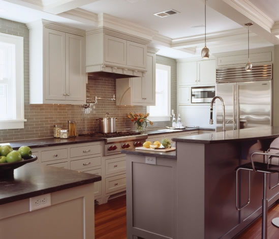 Kitchen Remodel Kent Wa: Belfair-wa-two-tone-kitchen-countertop-granite-marble