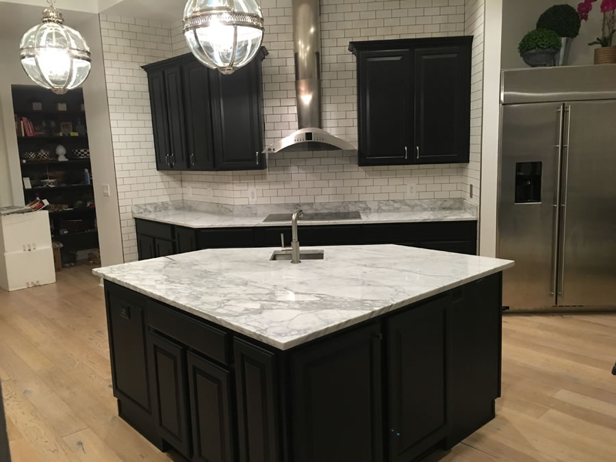 Bonney Lake Wa Black Cabinet Kitchen Countertop Granite