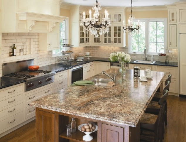 Two Tone Granite Countertop Two Tone Kitchens Granite Countertops - Kitchen countertops seattle