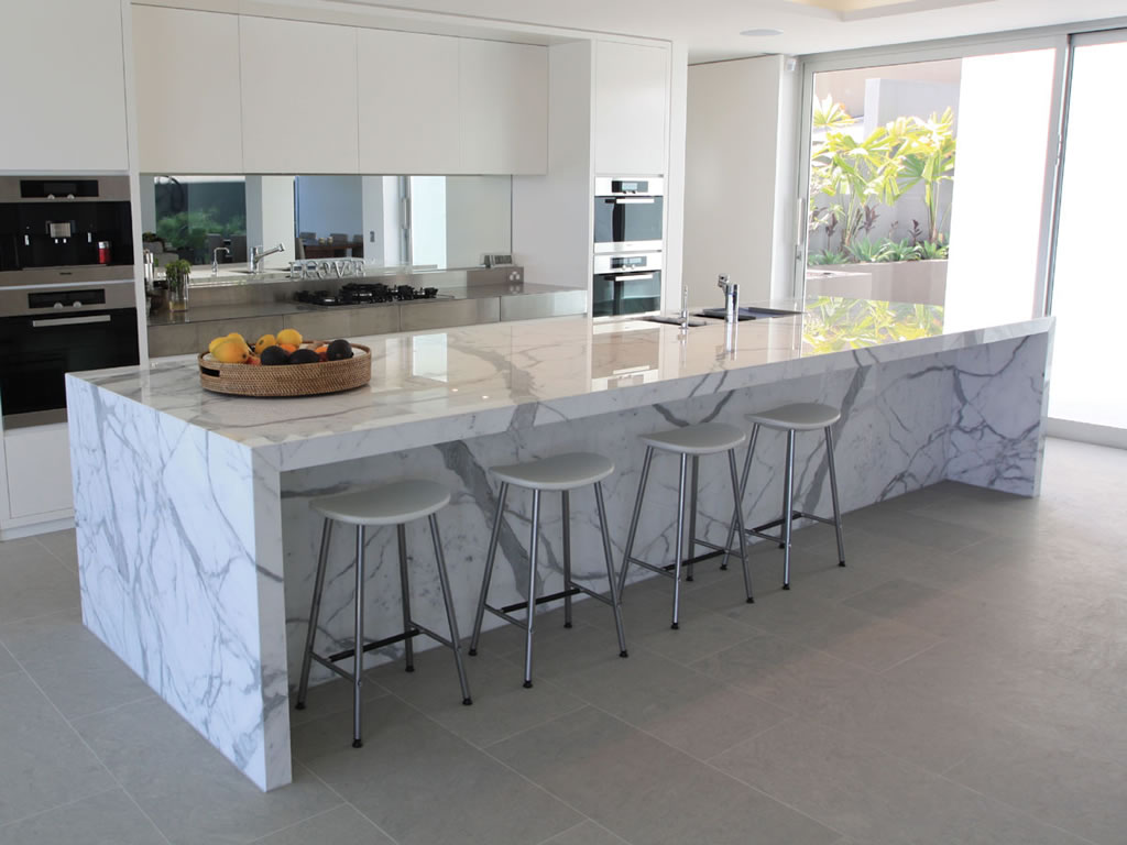 White Ceramic Kitchen Countertops