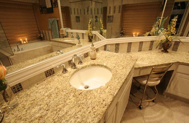 Giallo Ornamental Granite Countertops Seattle