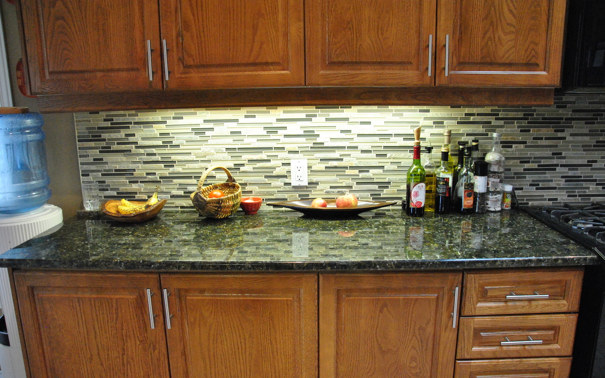 Peacock Green Kitchen Granite Countertops Seattle