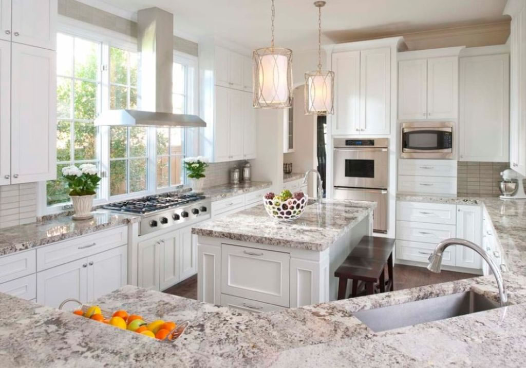 Seabeck Wa White Cabinet Kitchen Granite Marble Quartz Countertop
