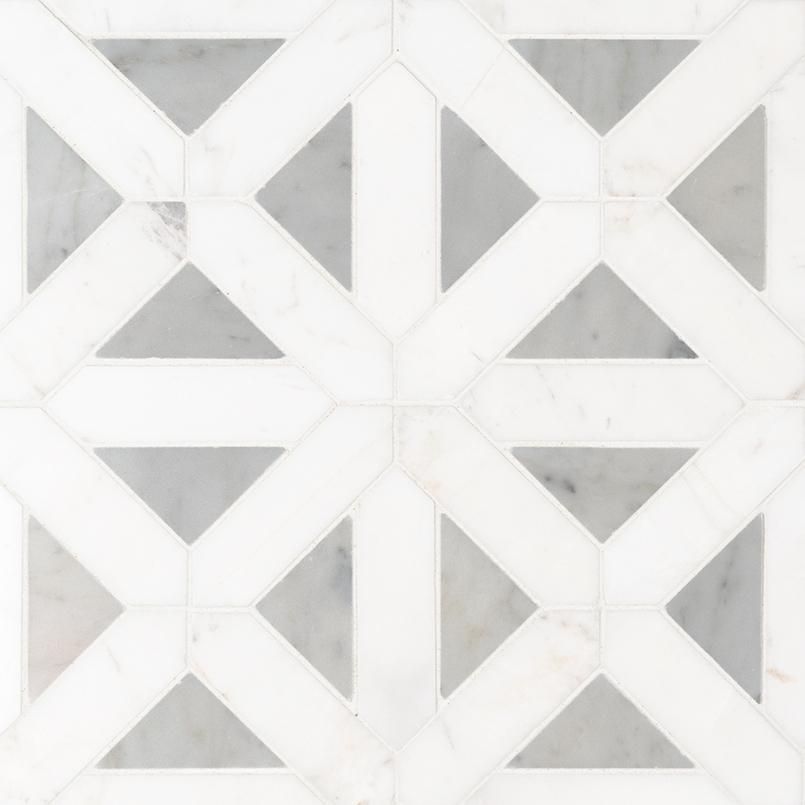 Bianco Dolomite Geometrica Polished Granite Countertops