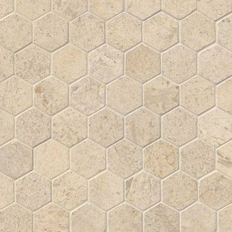 "Coastal Kitchen Seattle Wa: Coastal Sand 2"" Hexagon Honed"