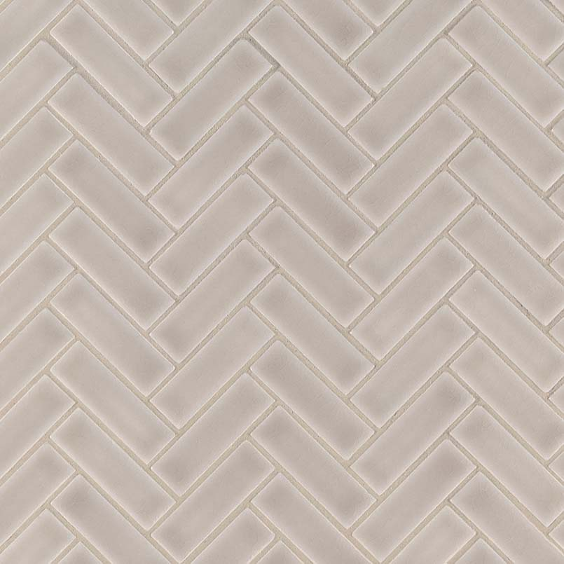 Portico Pearl Herringbone Pattern 8mm Granite