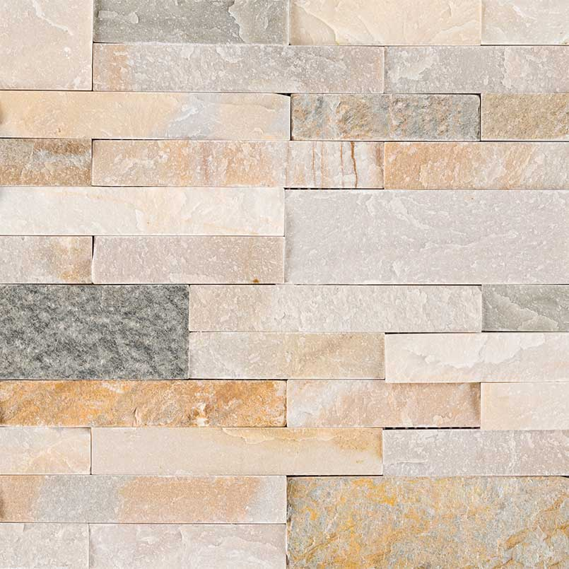 Golden Honey Peel And Stick Stacked Stone Granite