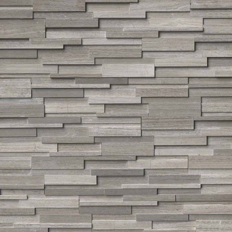 Gray Oak 3d Honed Rockmount Stacked Stone Panels Granite